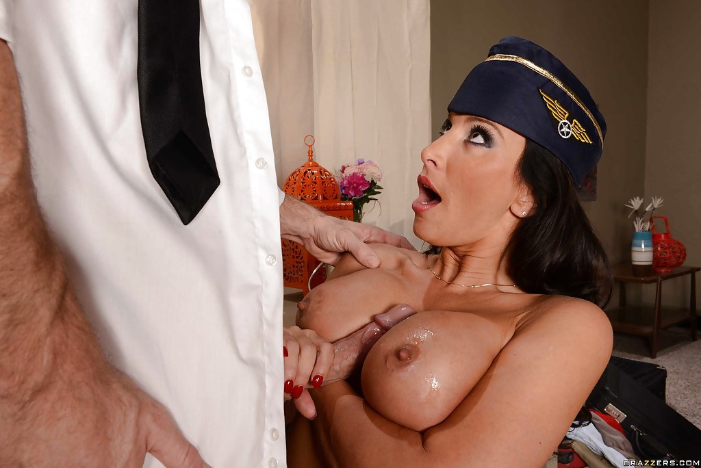 Airline captain fucked his new stewardess 9