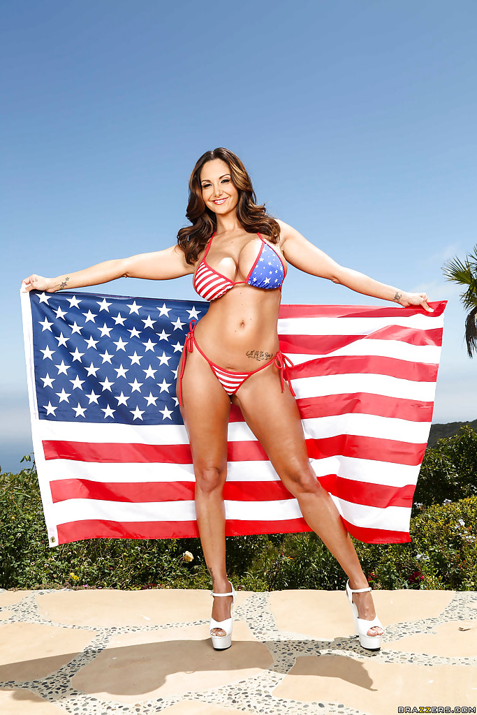 flag american naked girl Sexy with