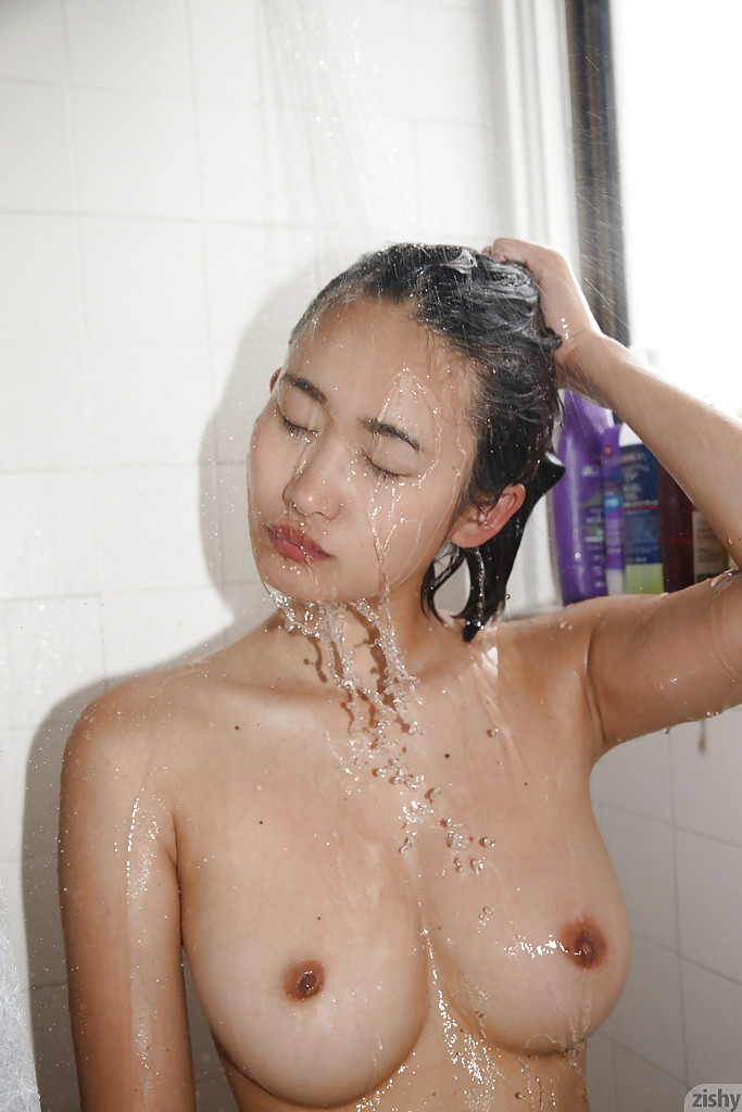 Asian Mom Shower Porn - ... Curvy Asian amateur Saki Kishima showing her body while showering ...