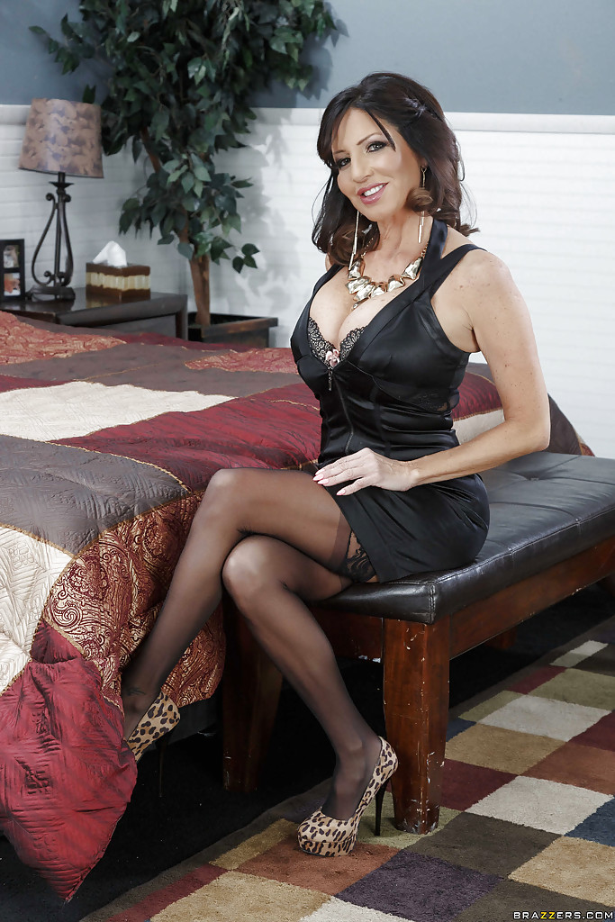 Her Milf stockings in