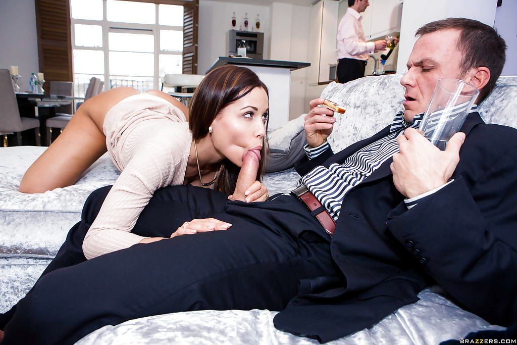 Threesome husband sucks — 3