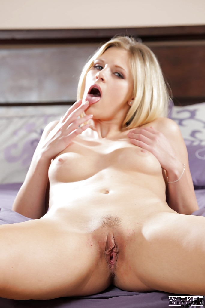 Fair skin blonde with black cock