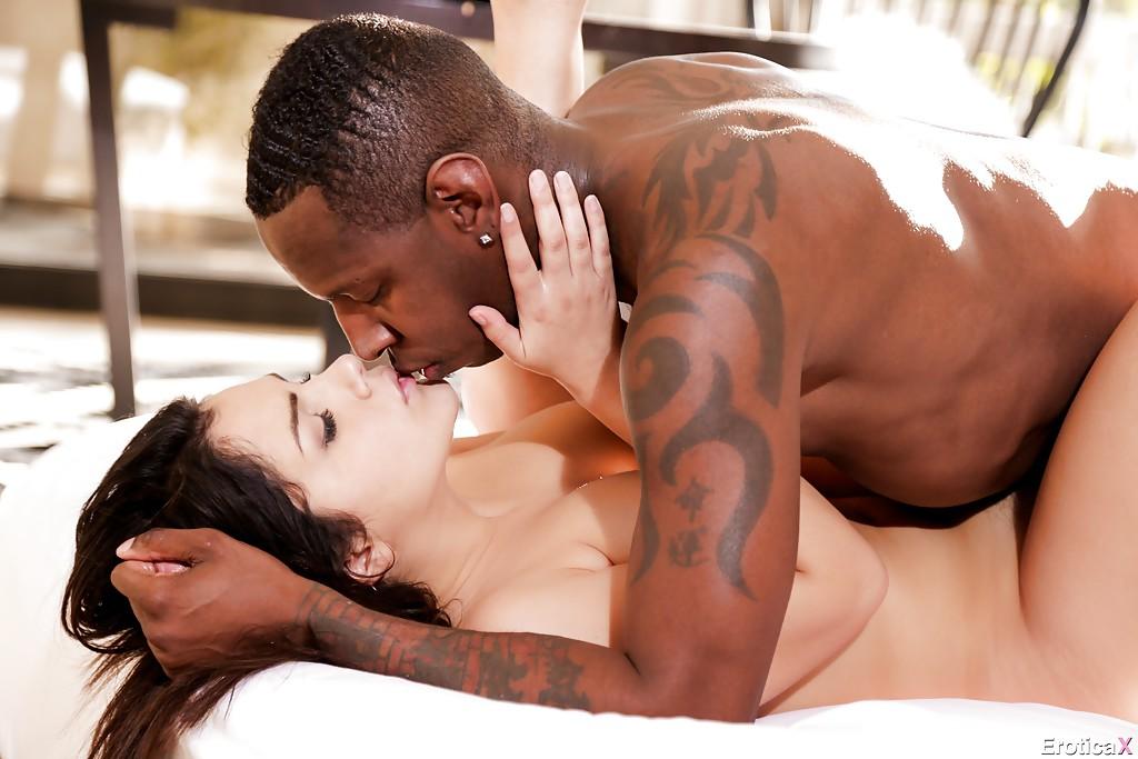 Interracial romance porn