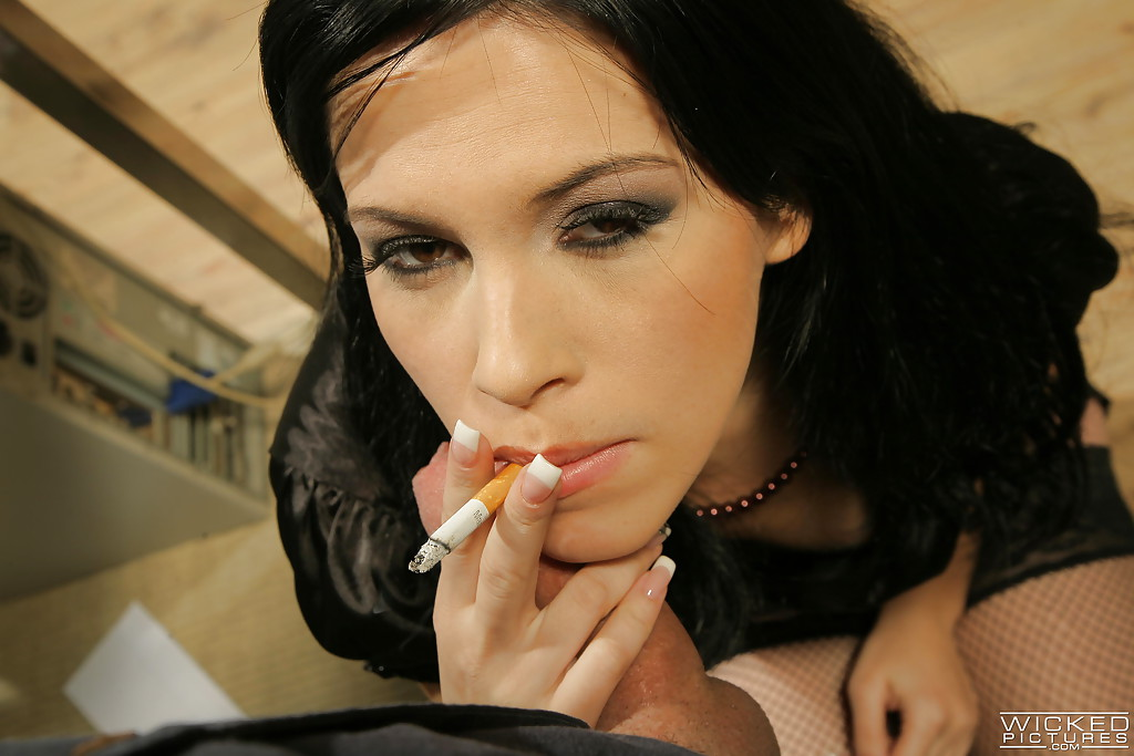 Cigarette blowjob