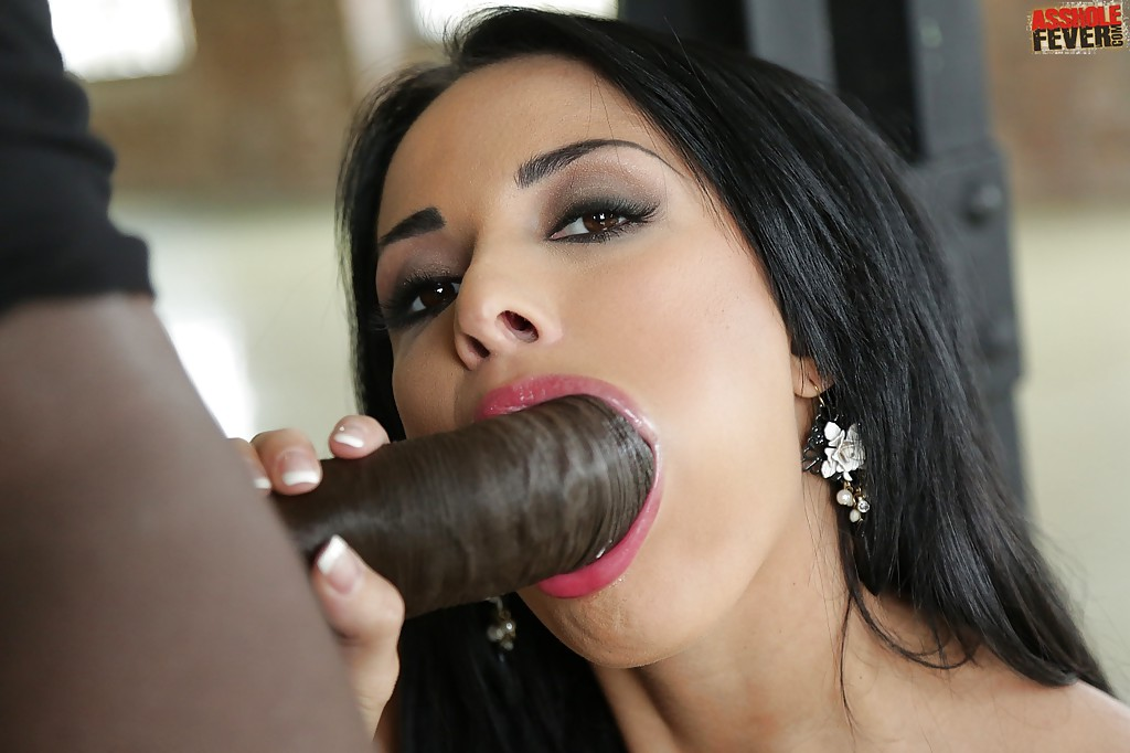 Swallow black cum cock blowjob