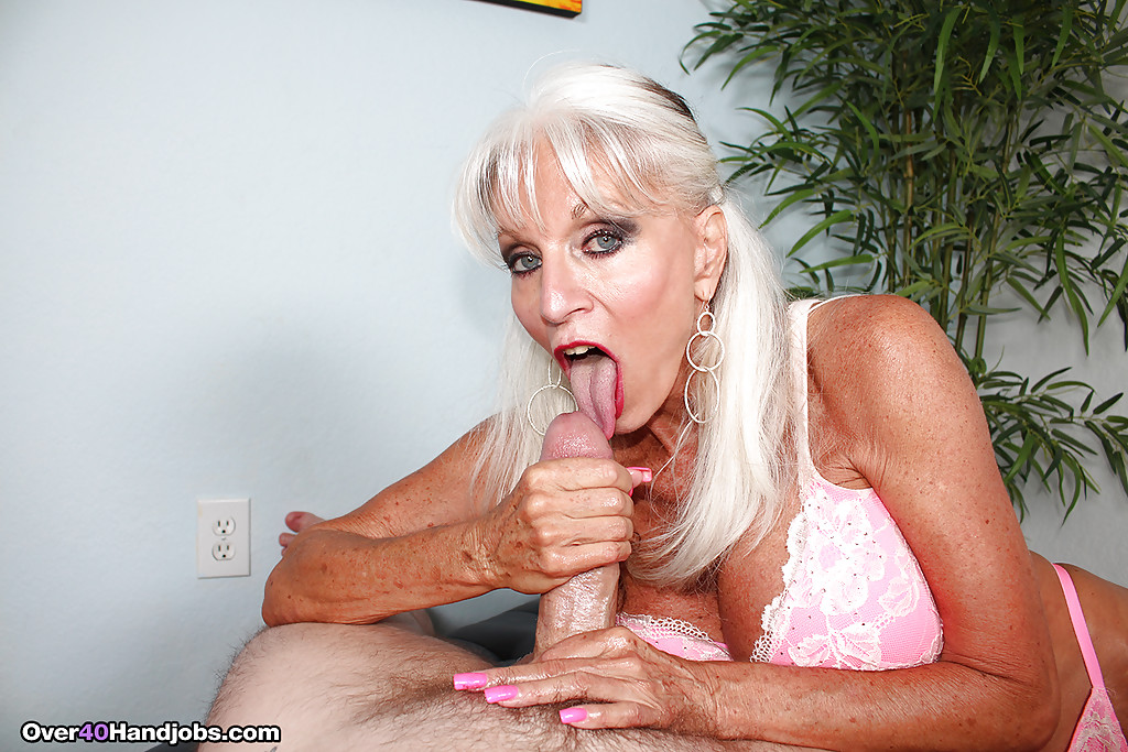 Beautiful silver hair pornstar