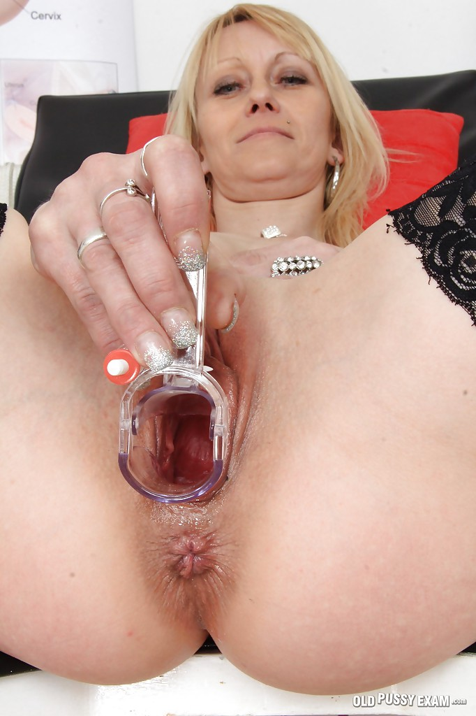 Blonde inserting a big red brutal dildo in both her holes outside in hd 8