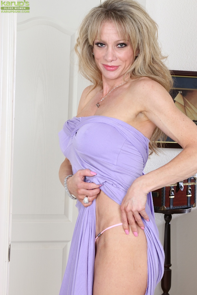 Older Woman Christina Brim Posing Non Nude In Long Dress And Heels
