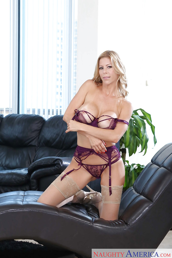 Hot blonde milf solo