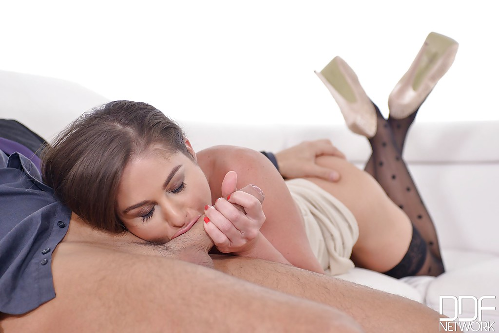 Wife panty pulled aside