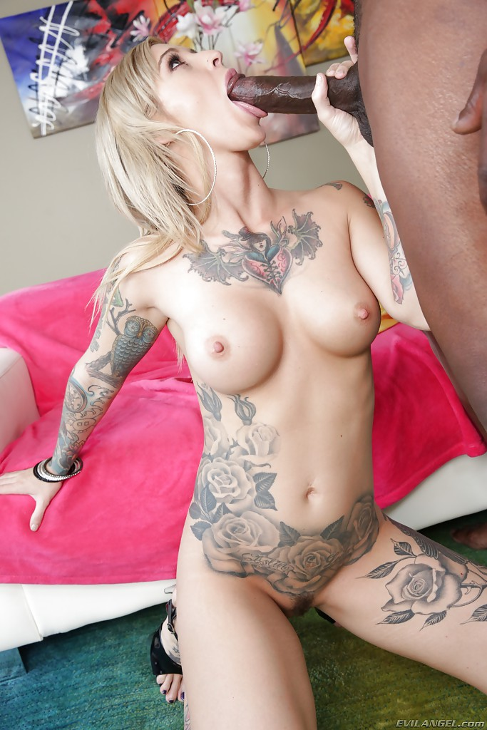 Pretty Blonde Kleio Valentien Having Sex With Tattooed Guy Bang 1