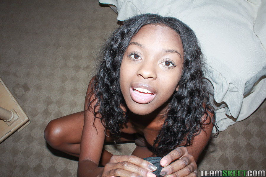 Ebony Teen Takes White Dick
