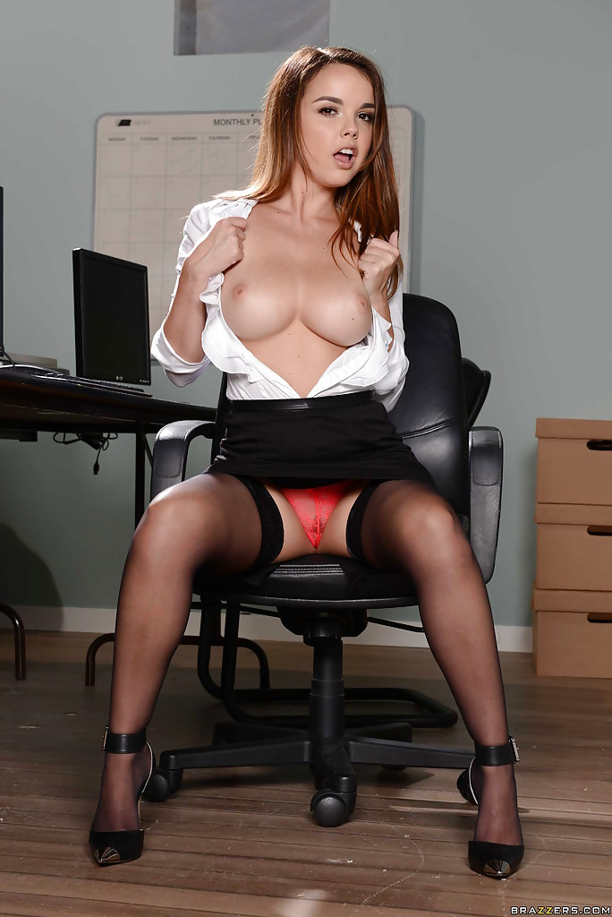 naked red haired secretary