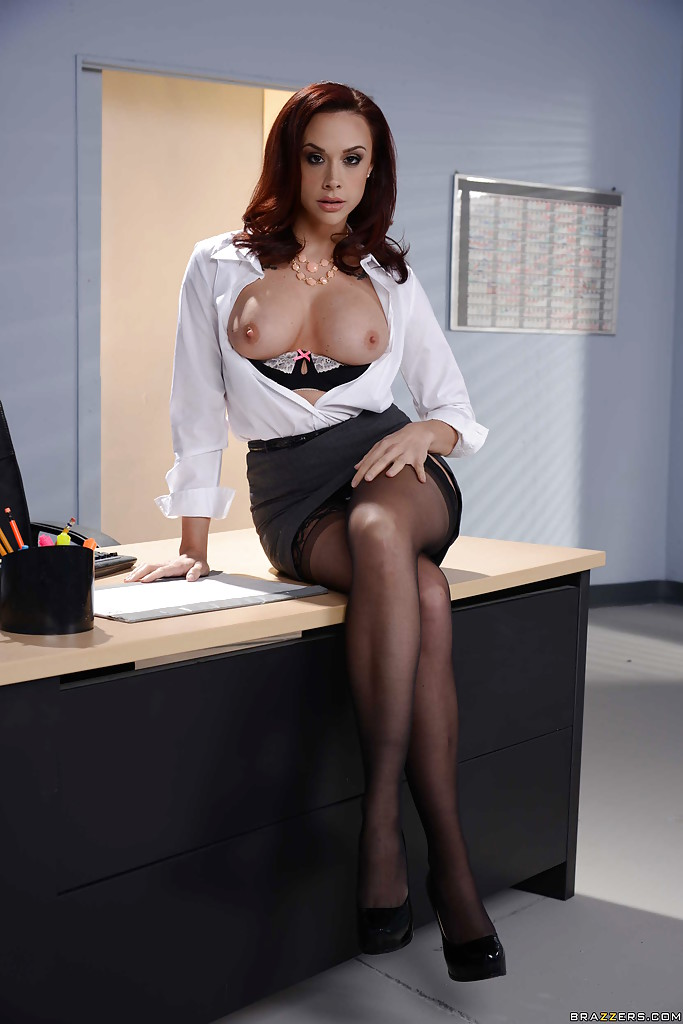 Upskirt hot secretary