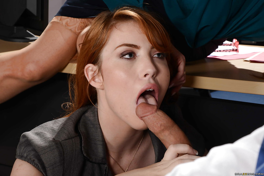 Blow job by redhead can
