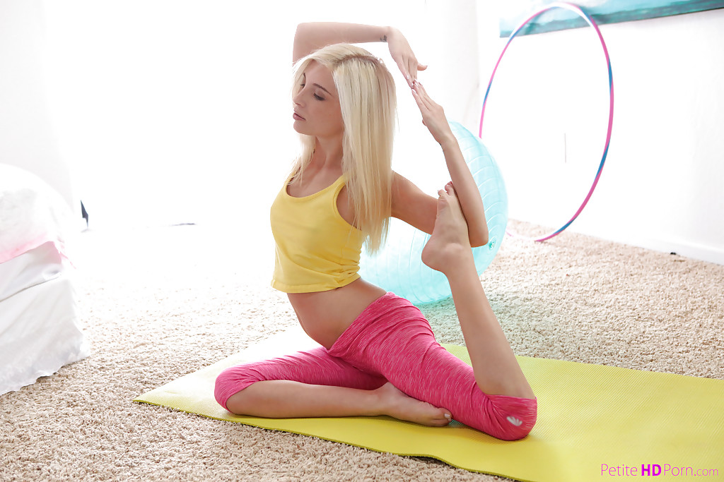 Necessary Hot blonde naked yoga just