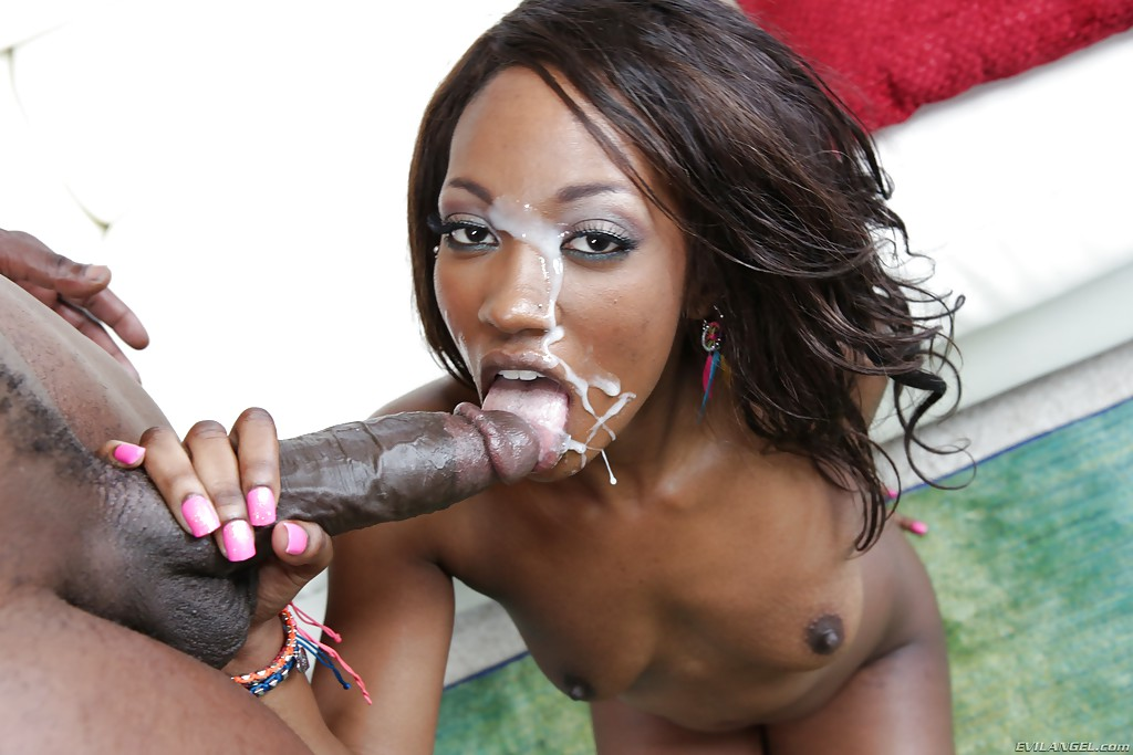 Black ebony blowjob removed