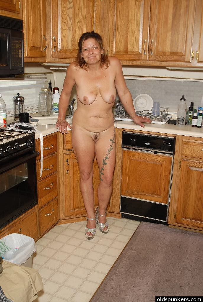 Mature granny kitchen congratulate