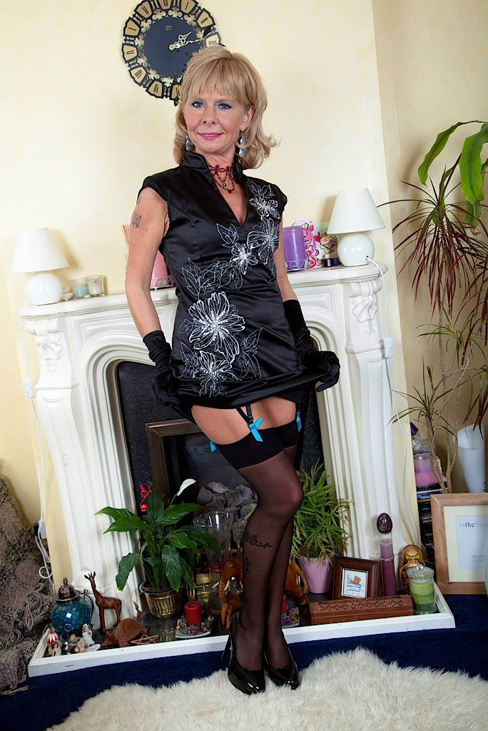 Granny stockings heels