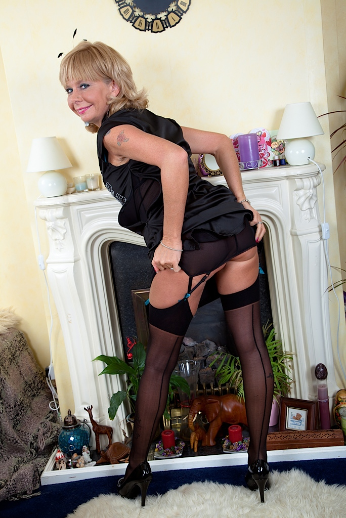 and pics Nylons. in sexy Grannys corset