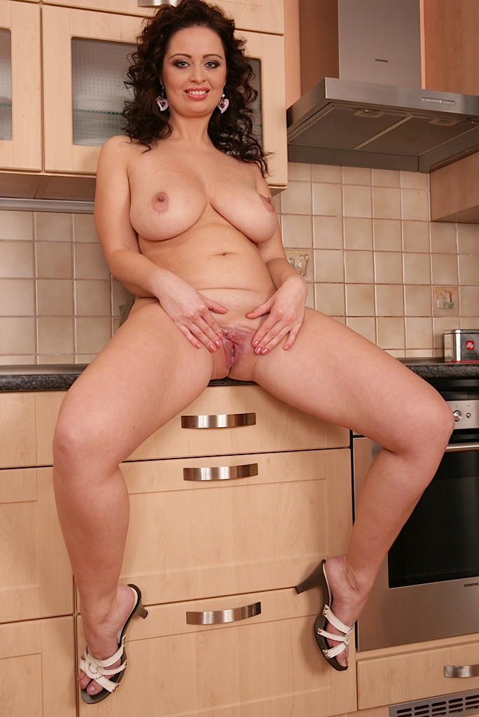 Asian milf in kitchen