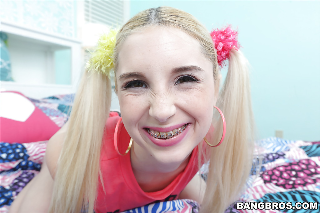 cum on braces - ... Teen cutie Piper Perri and her pigtails and braces are cumshot inducing  ...
