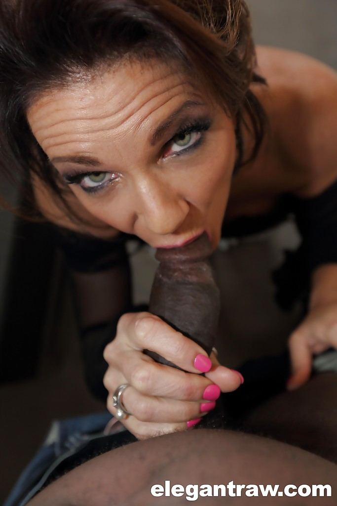 Cock hard Elegant mature blowjob wish
