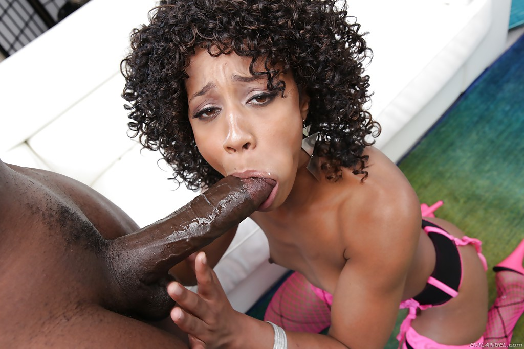 stone Ebony blowjob misty