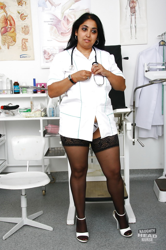 ... Fat Indian nurse Alice flashing upskirt underwear in hospital ...