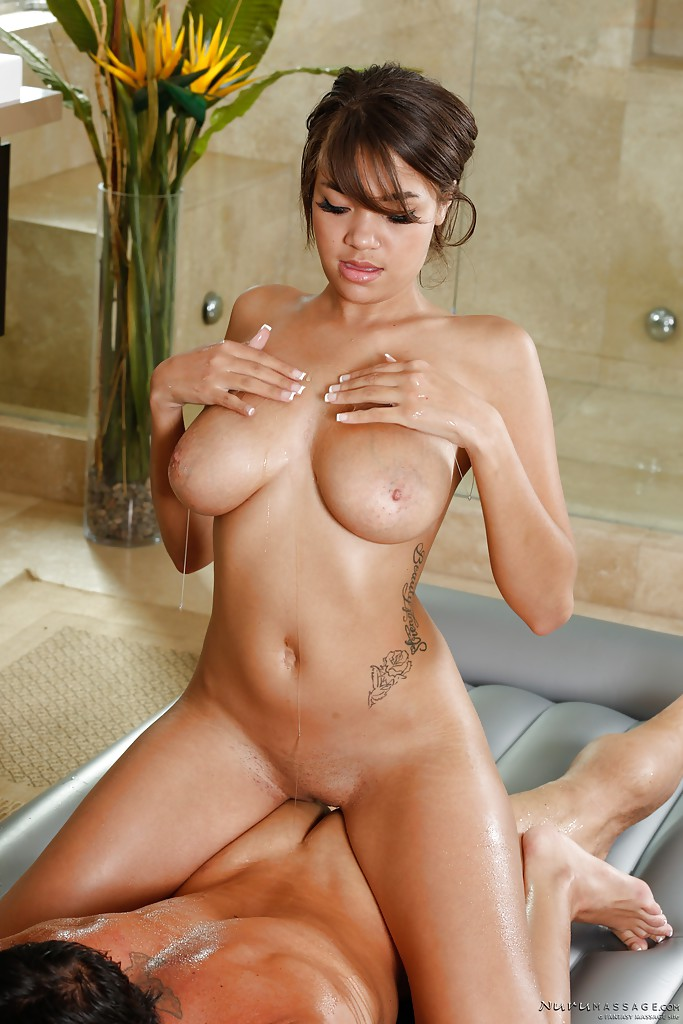 busty asian babe cassidy banks delivering a sexy nuru
