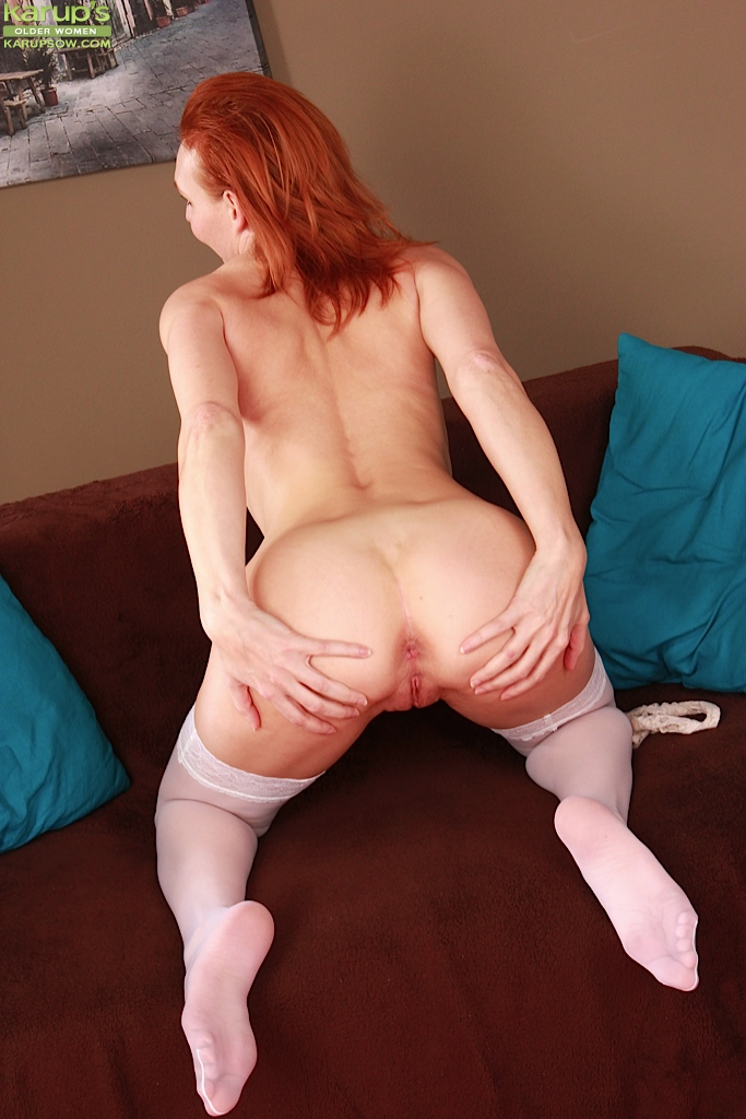 image Czech redhead milf gets her pussy licked and dildo fucked