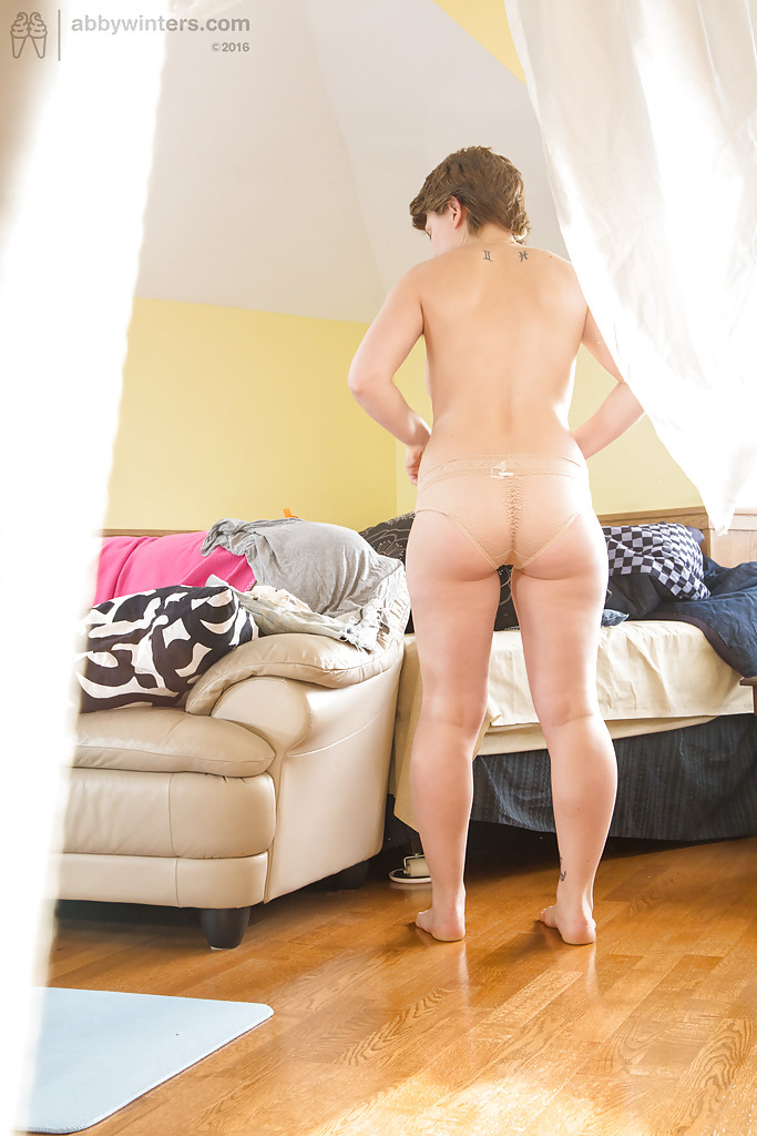 Chubby short haired nude