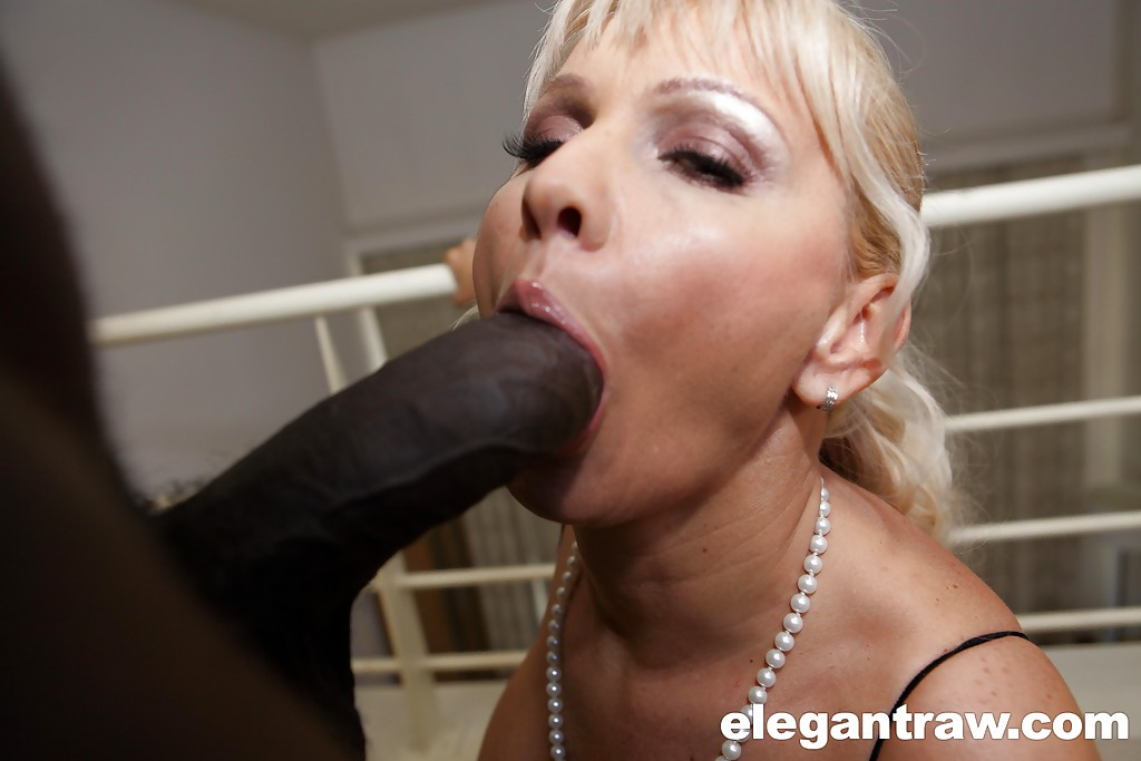 Blond mature and black cock