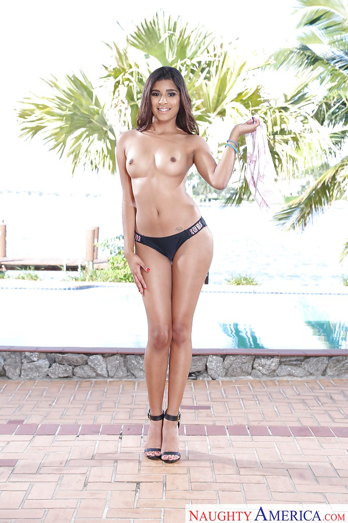 Naked latina high heels