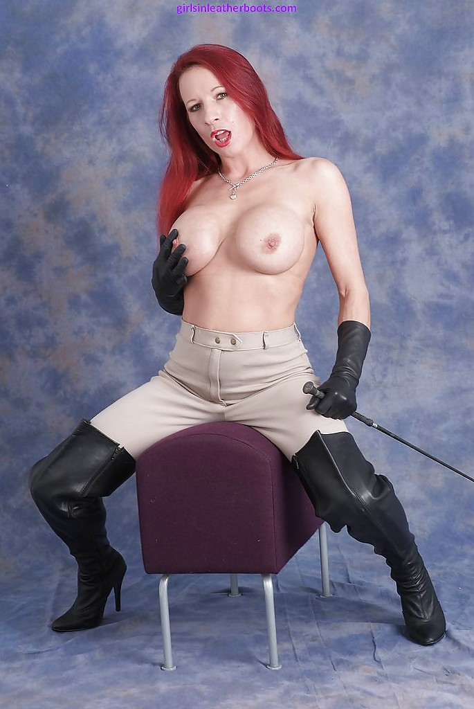 Gloves redhead leather