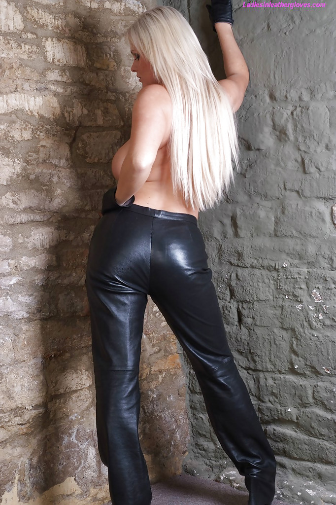 Women wearing leather pants topless pic of interesting