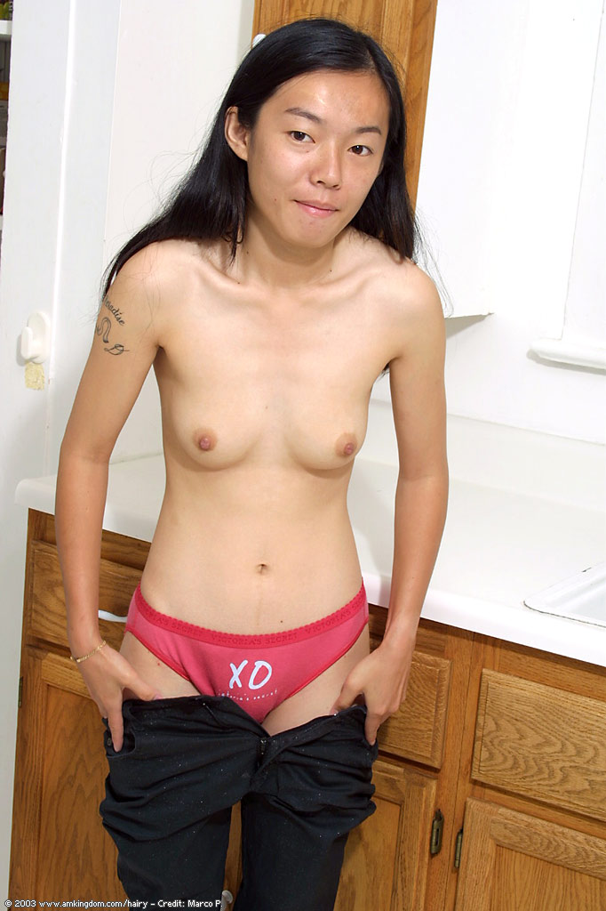 Asian model topless