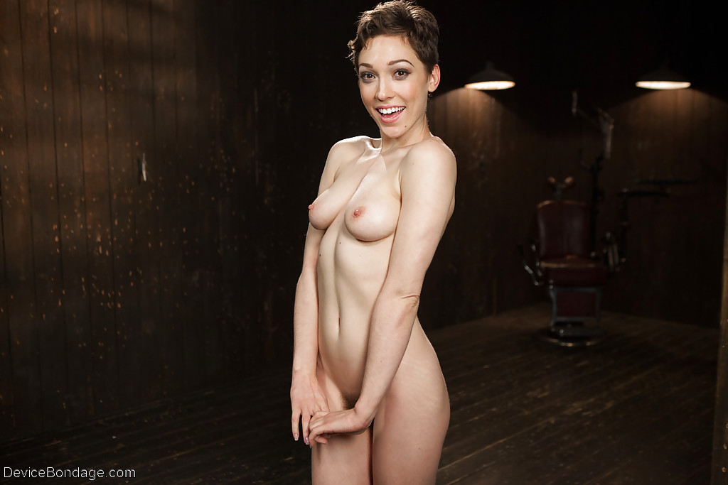 short haired nude model