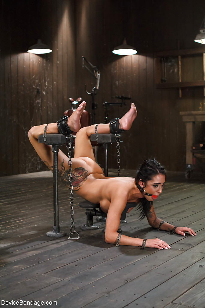 Alexa is chained and tied upside down Part 10 9