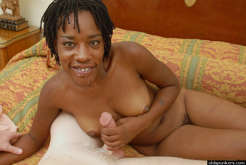 Older black woman having sex