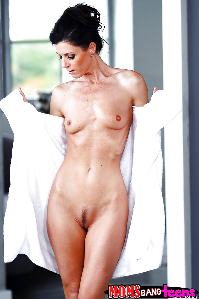 Milf in shower and after