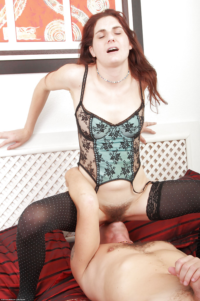 amateur stockings Hairy redhead