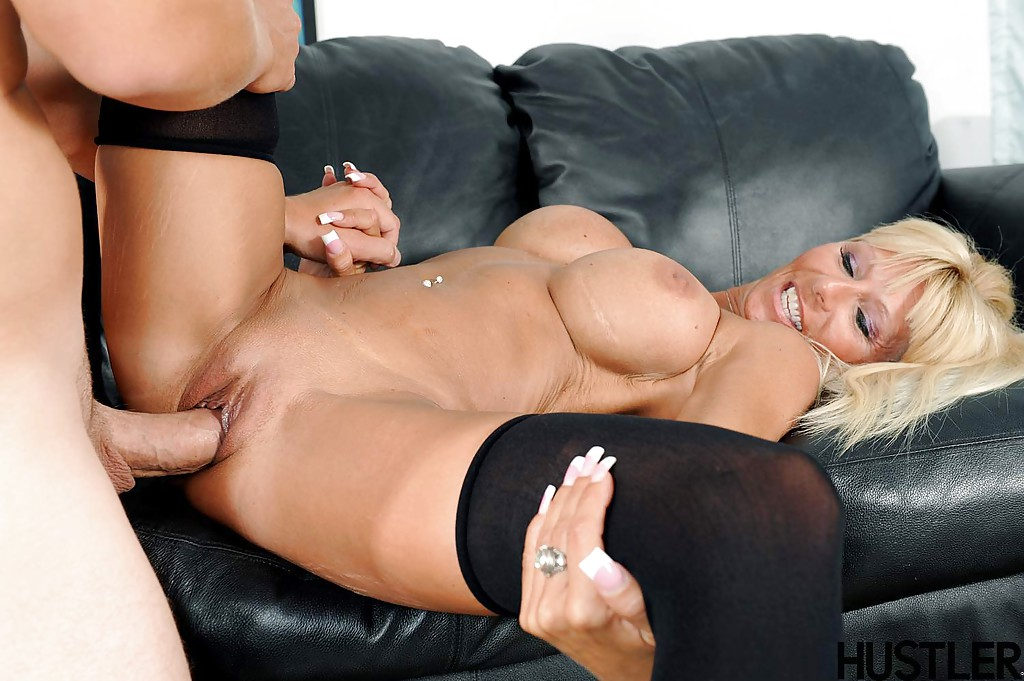Couch blonde oral sex