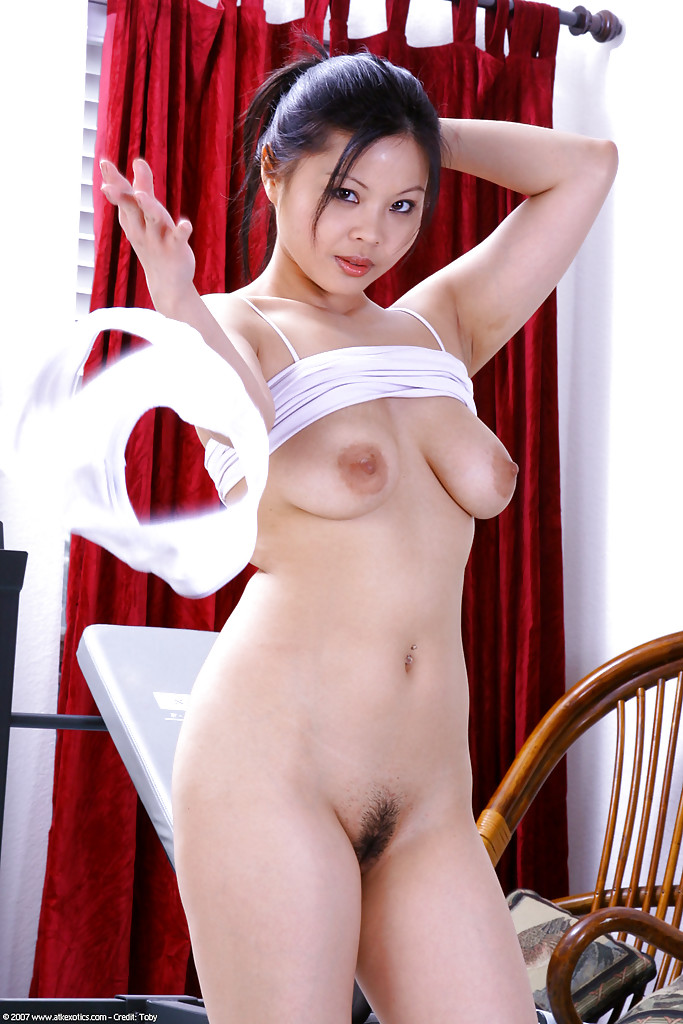 ... Busty Latina amateur Ayane working out for sexy topless photos ...