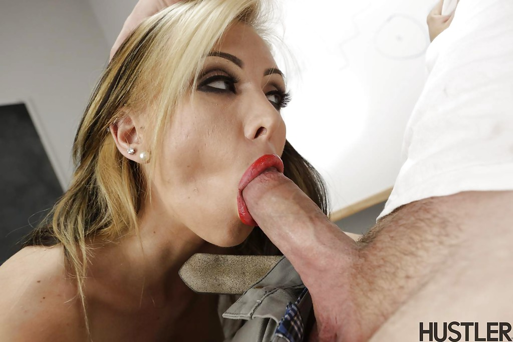 Homemade Mature Blonde Blowjob