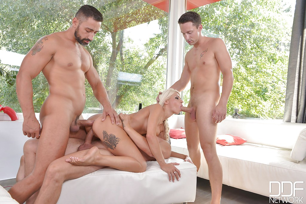 Congratulate, gorgeous blonde gangbang