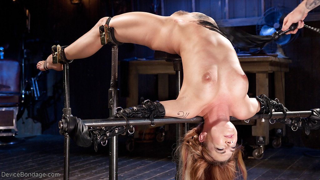 naked super girl hung upside down