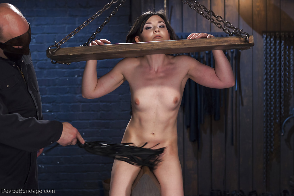 Cunt chained in cell