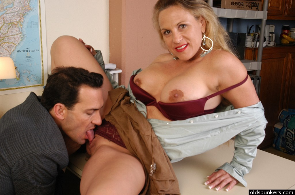 Creampie Blonde Mature Office