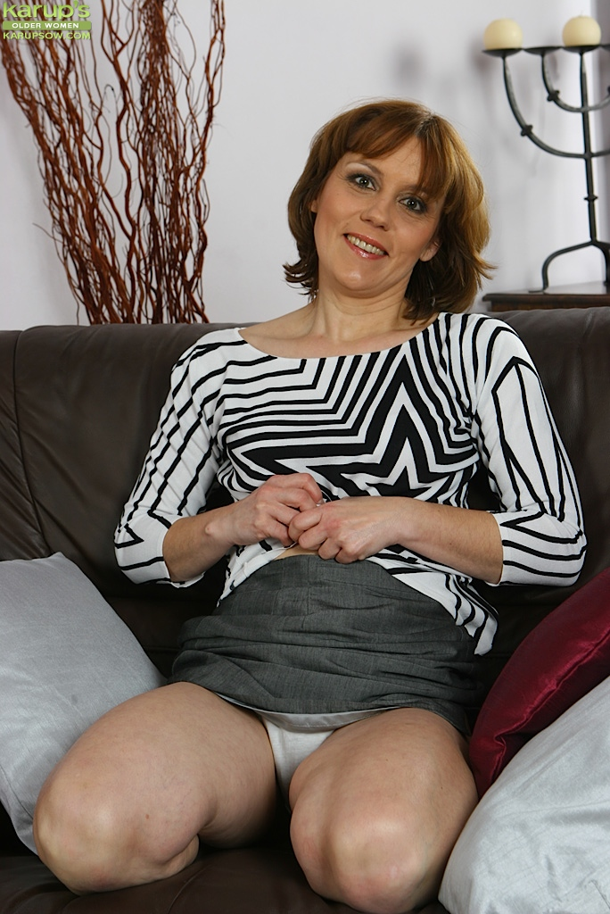 Mature wife upskirt flashing at home